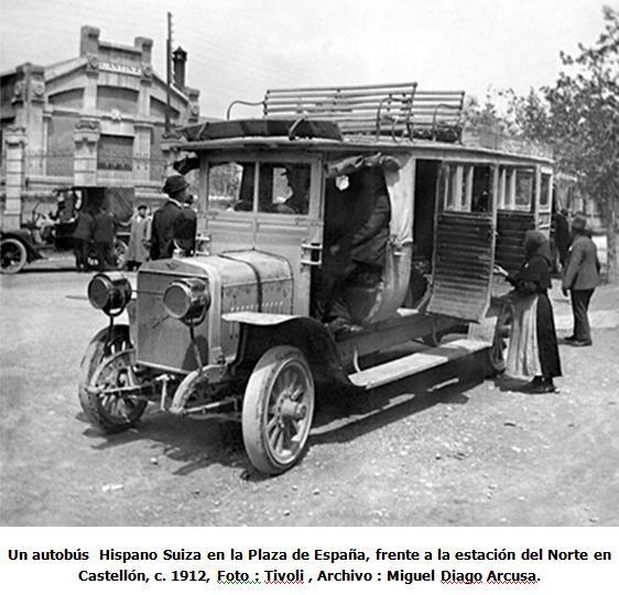 Autobus Hosano Suiza c. 1912  . Tivoli
