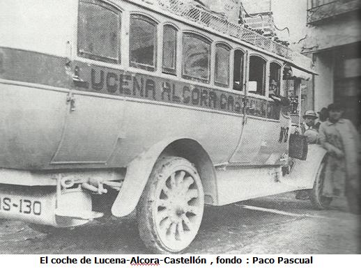 El coche de Lucena -Alcora , fondo Paco Pasciual