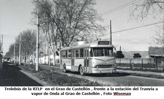 Trolebus RTPL , frente estacion del OGC en el Grao de Castellon , foto Wiseman