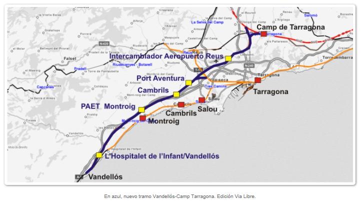 Plano Valdellos Camp de Tarragona, Via Libre